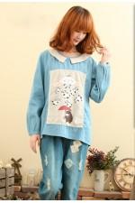 Джинсовая рубашка Panda