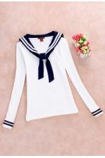 Блузка Японская форма WhiteNavy