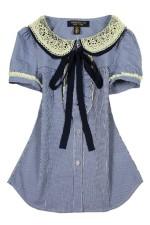 Голубая блузка HighSchoolJapanStyle
