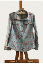 Джинсовая рубашка Flowers