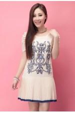 Платье Blue Embroidery