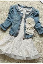 Куртка джинсовая с цветком
