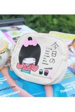 Сумочка для мелочей и гаджетов Japan Girl бежевая