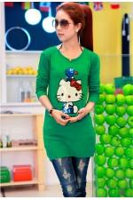 Джемпер Hello Kitty Green